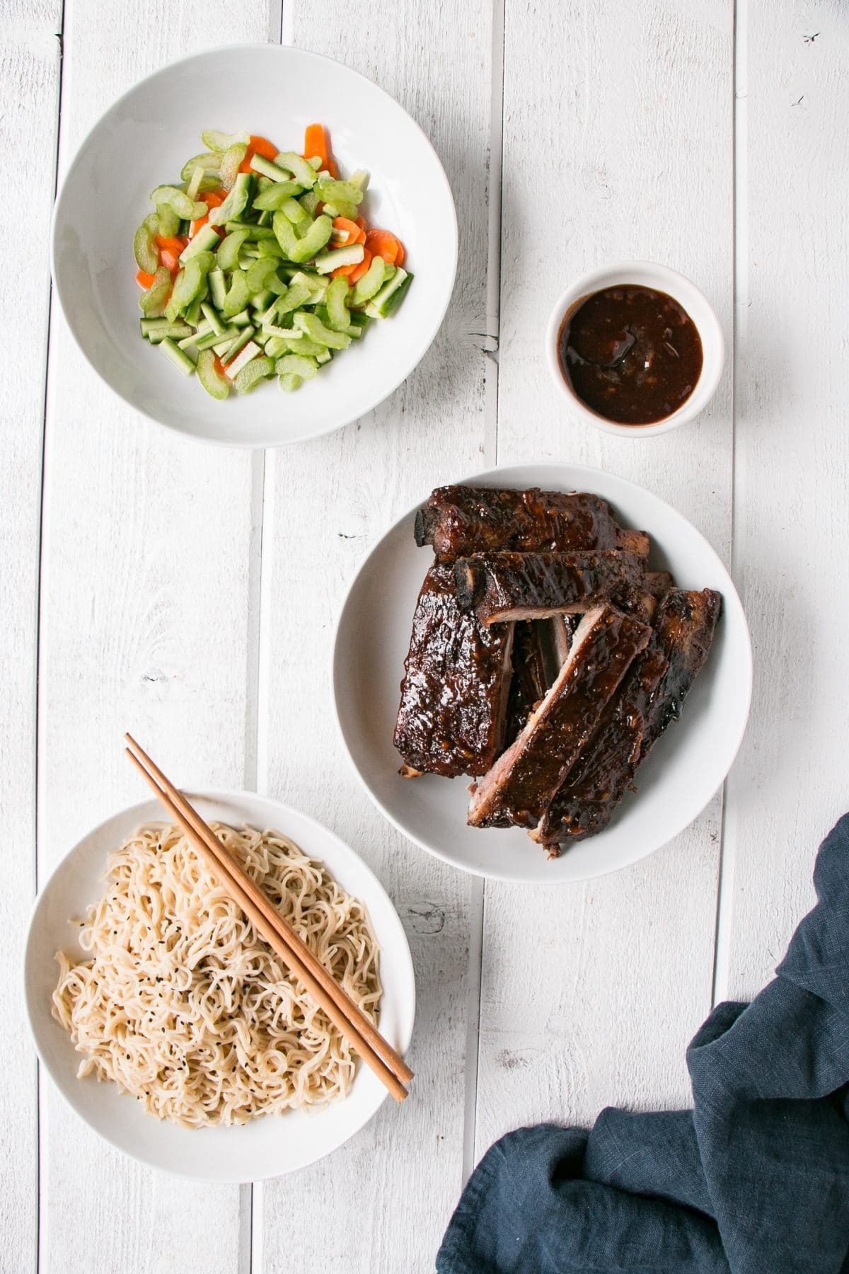 Sticky Asian Ribs made in the Slow Cooker or Instant Pot for 2 truly easy ways to having ribs for dinner! #ribs #slowcookerribs #instantpot #instantpotribs #slowcooker