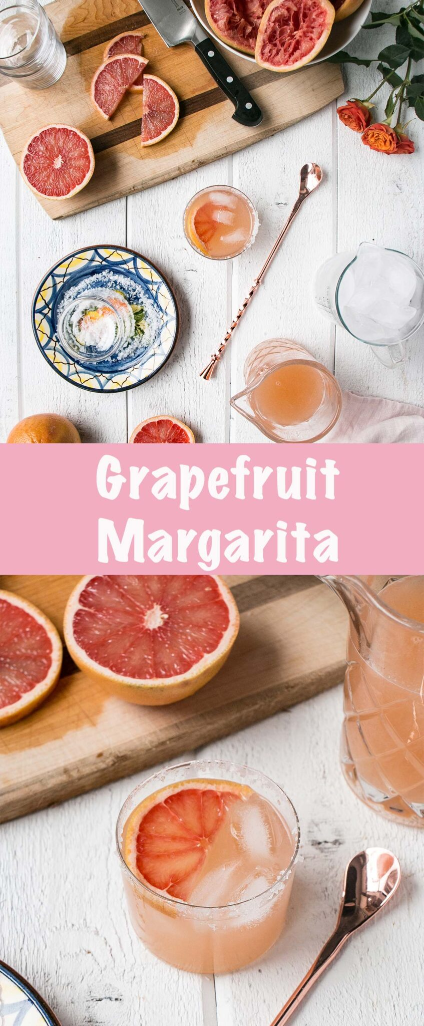 This Grapefruit Margarita is a refreshing, Winter take on a classic Margarita. #margarita #cocktail #tequila #margarita