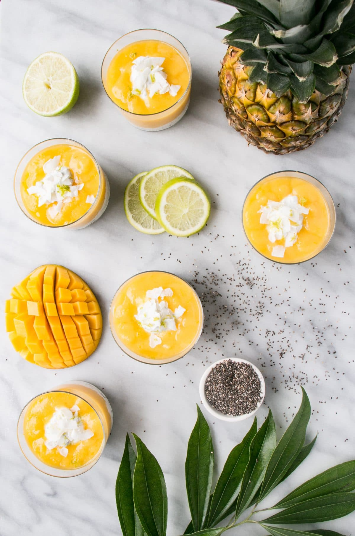 This Tropical Chia Pudding is easy to whip up the night before breakfast and is vibrantly delicious (and healthy!). #healthy #breakfast #chia