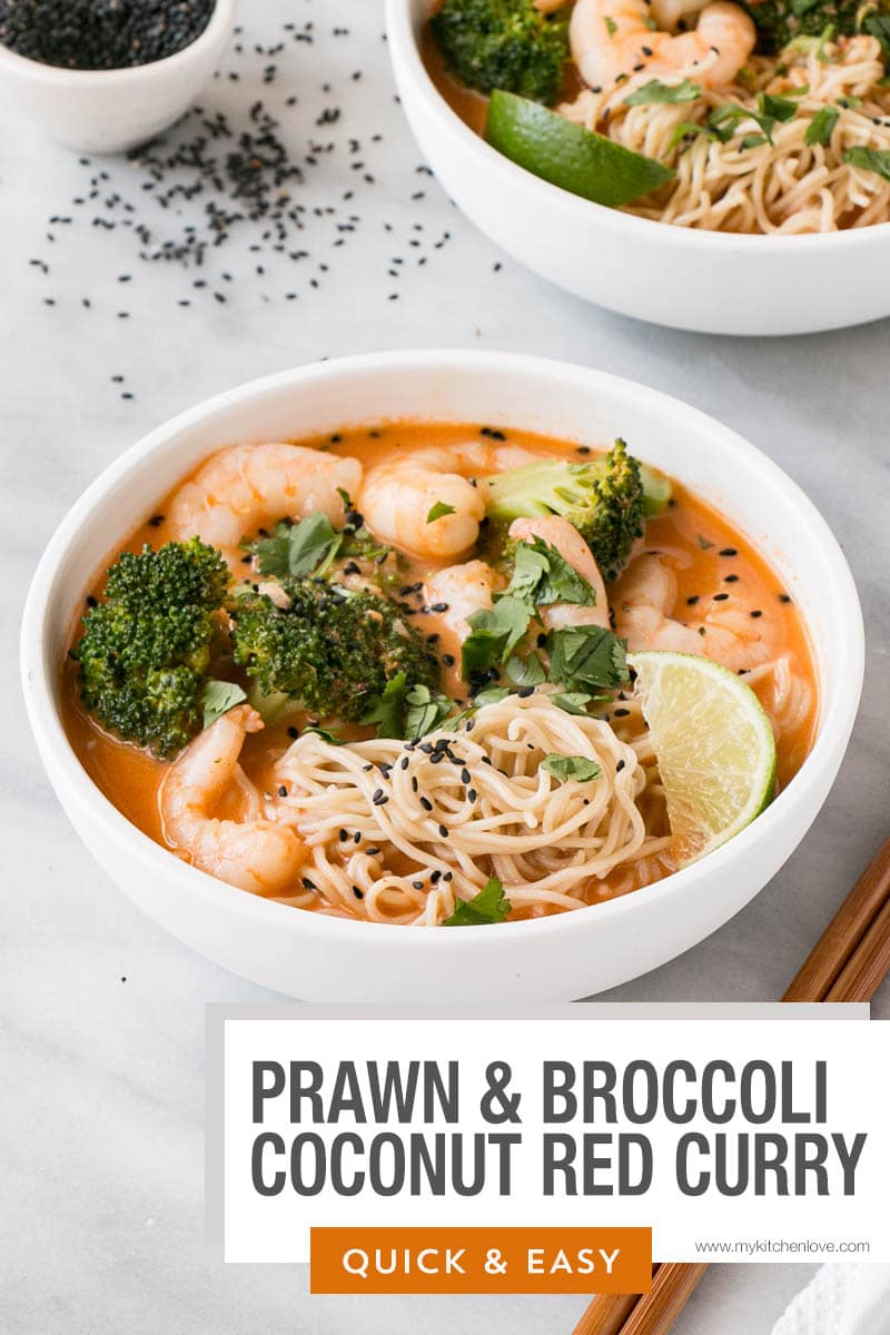 Prawn and Broccoli Curry with Noodles Short Pin