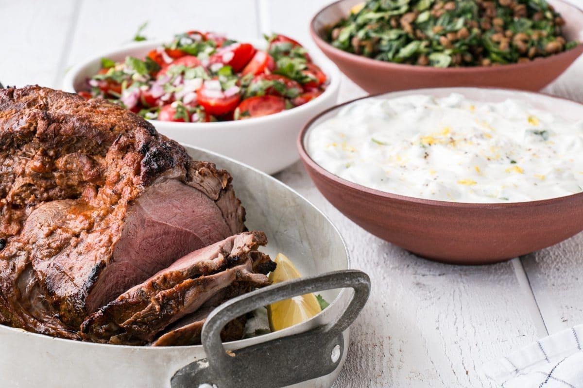 Indian-Spiced Lamb with Spinach Lentils, Salsa and Yogurt ...