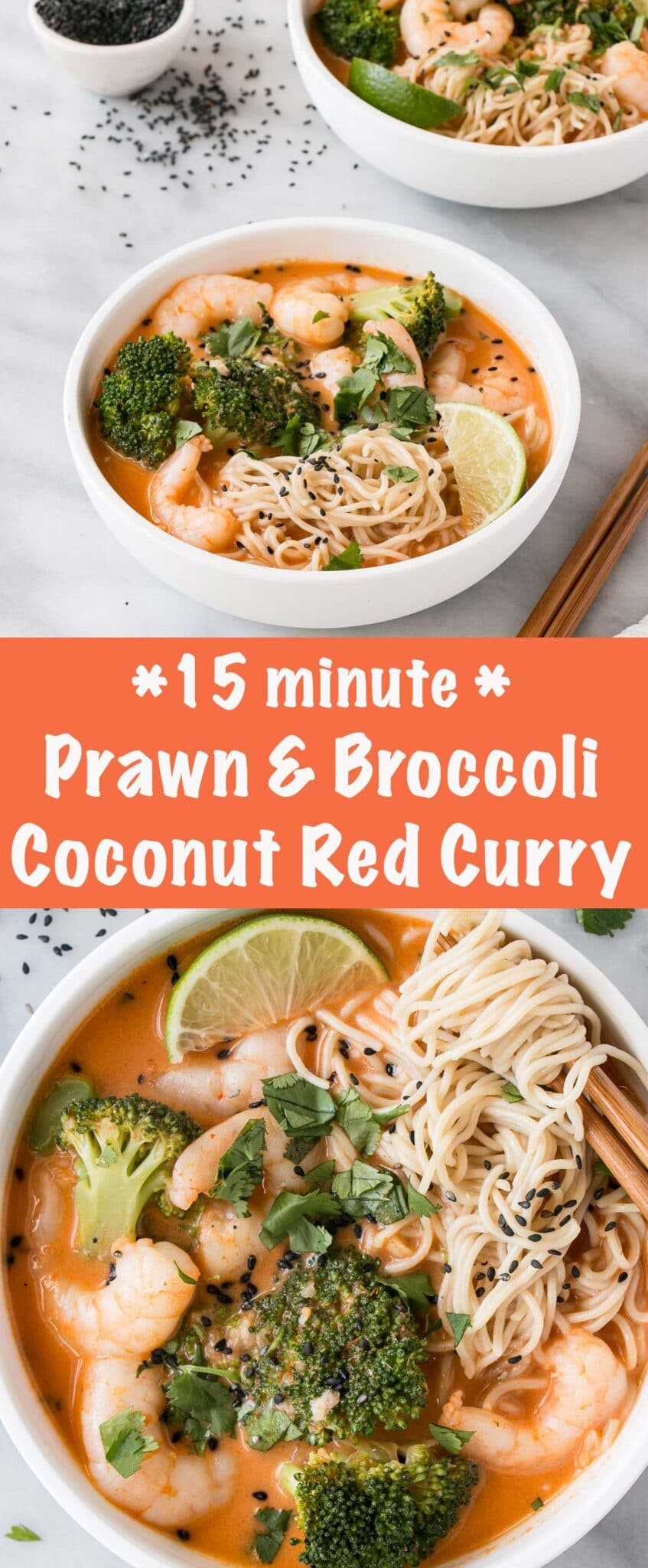 Prawn and Broccoli Red Curry long collage