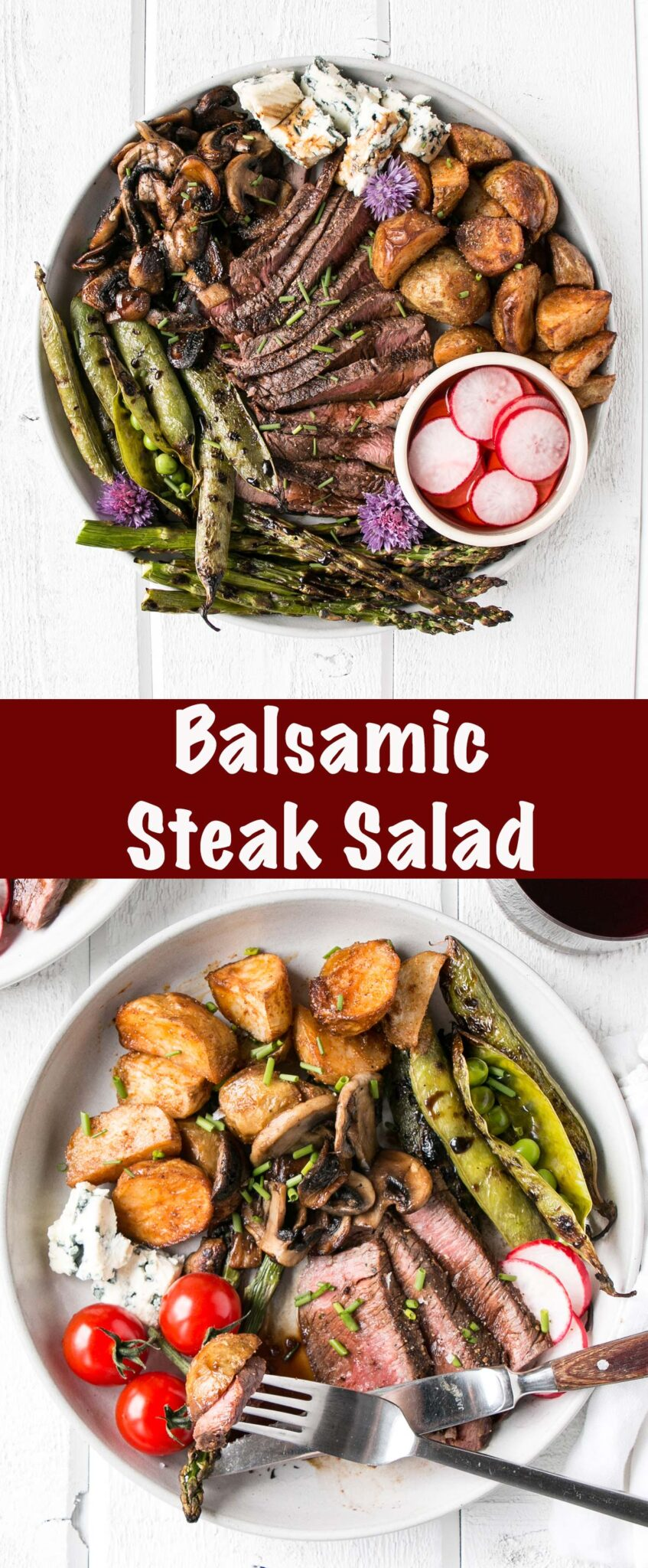 Balsamic Steak Salad long collage
