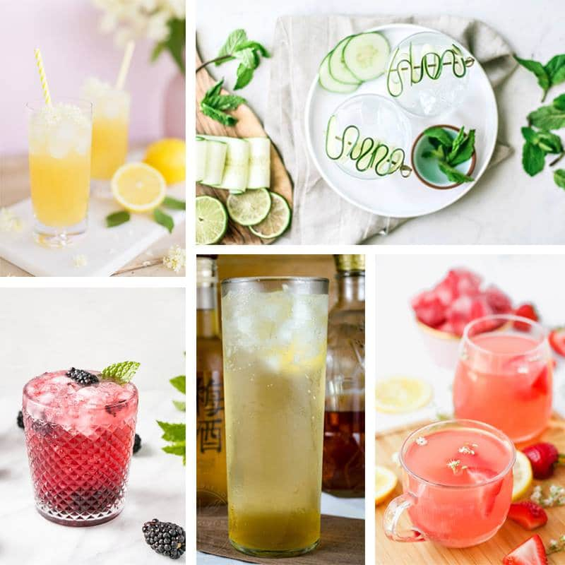 Summer Cocktail Collage