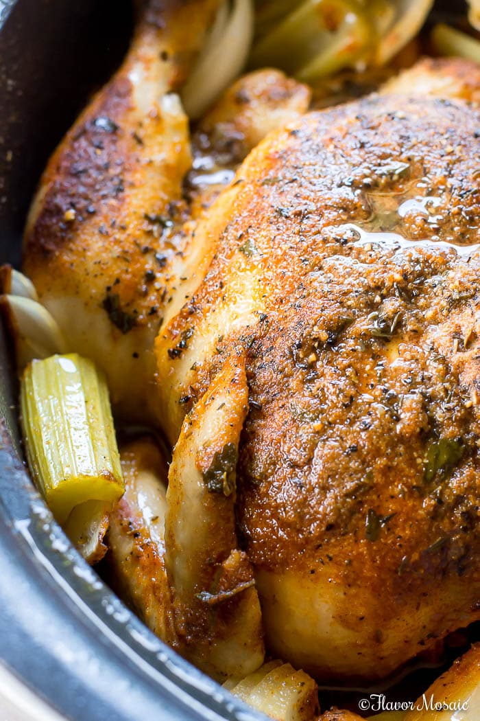 slow cooker roundup - rotisserie-style whole chicken
