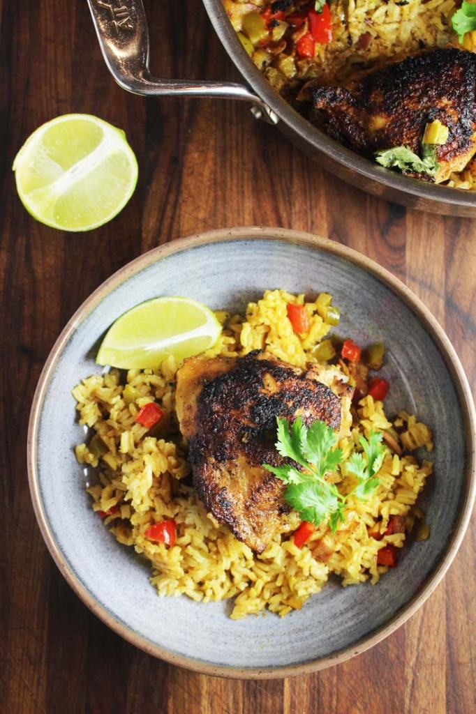 One Pan Cuban Chicken and Rice
