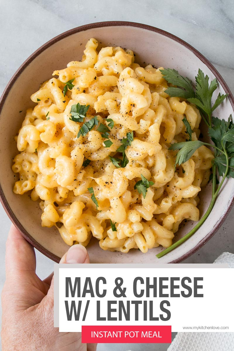 Instant Pot Mac and Cheese with Lentils Short Pin