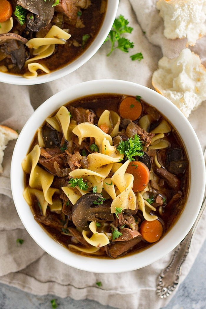 slow cooker roundup - beef and noodle soup