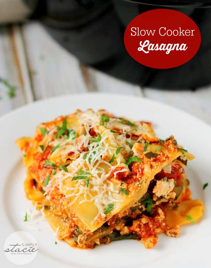 slow cooker roundup - lasagna