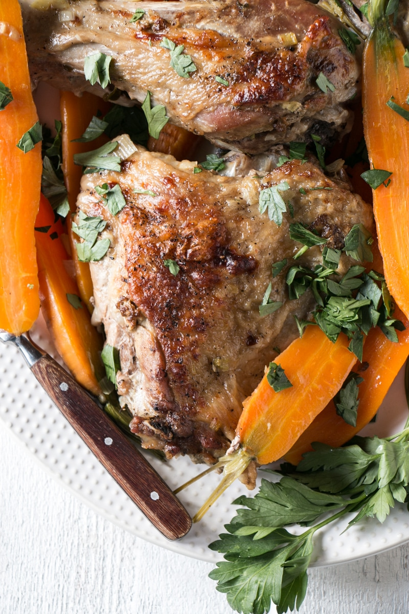 Braised Turkey Legs with carrots