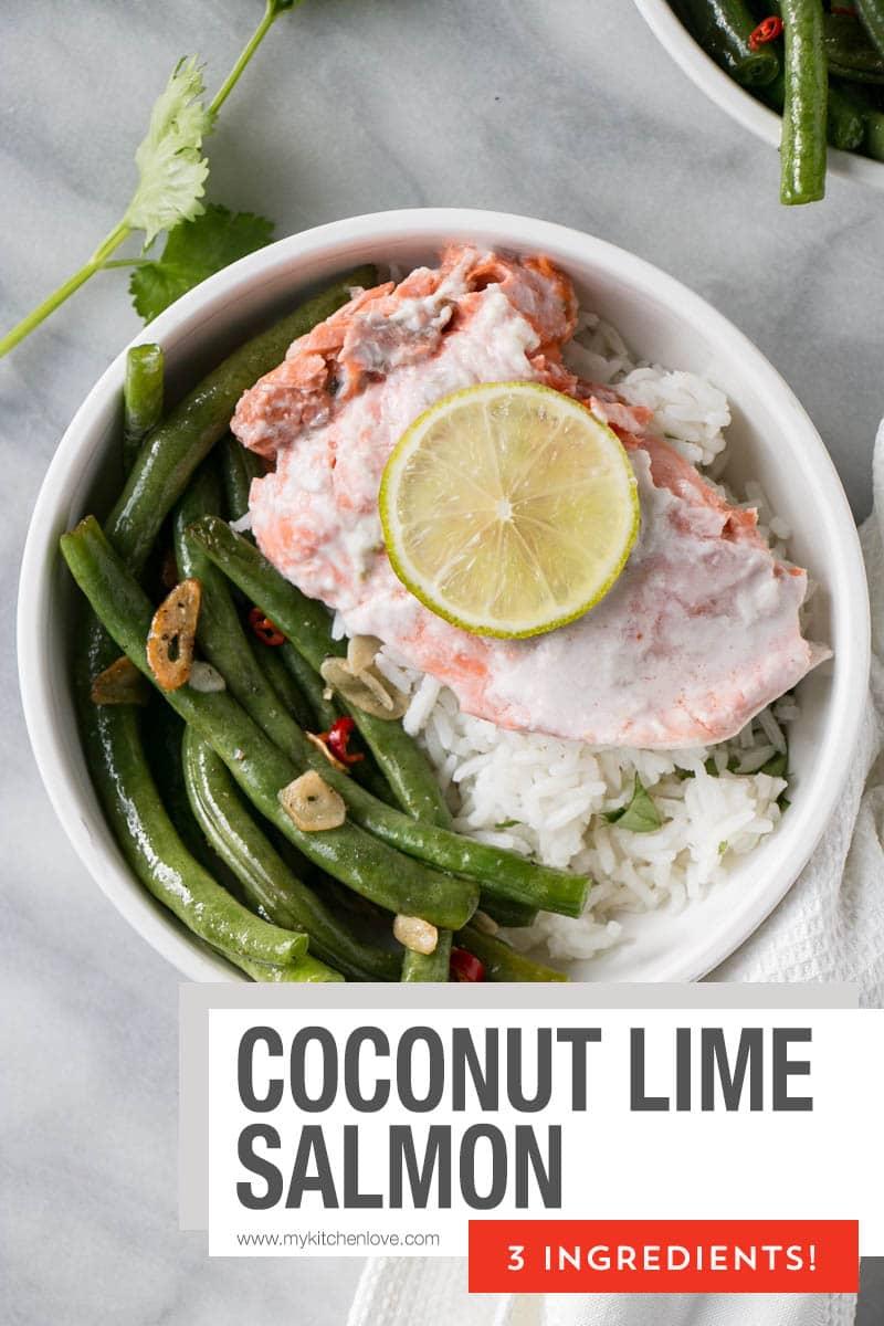 3-Ingredient Coconut Lime Salmon Short Pin