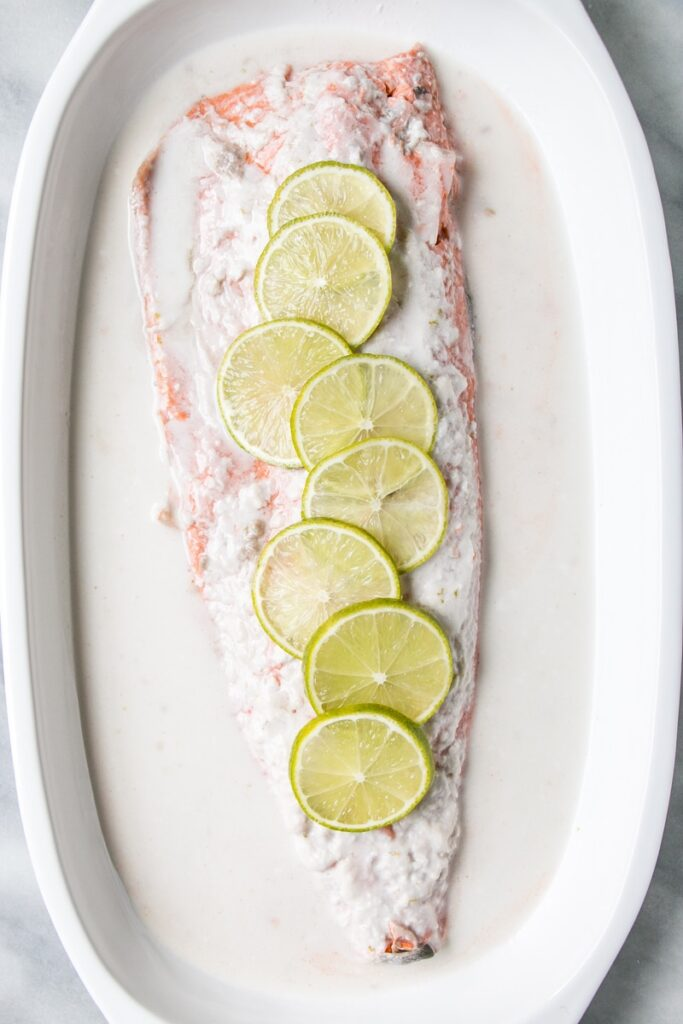 3-Ingredient Coconut Lime Salmon