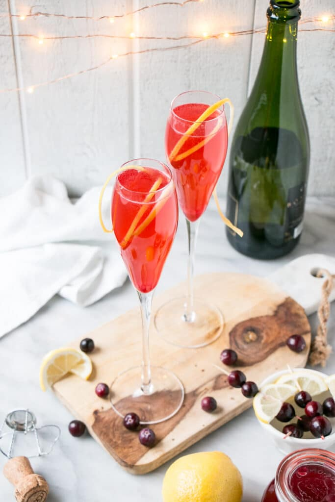 Cranberry French 75 recipe