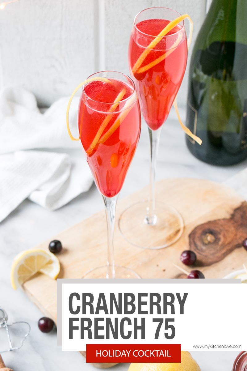 Cranberry French 75 short pin