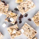 Marshmallow and Dried Fruit Granola cut up