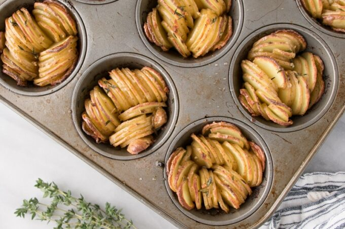 Crispy Muffin Tin Fingerling Potatoes