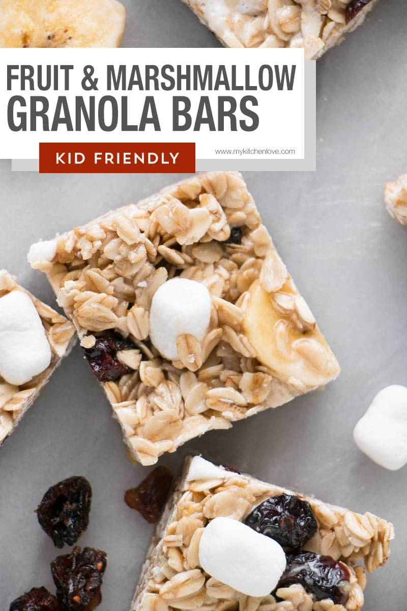 Fruit & Marshmallow Granola Bars short pin