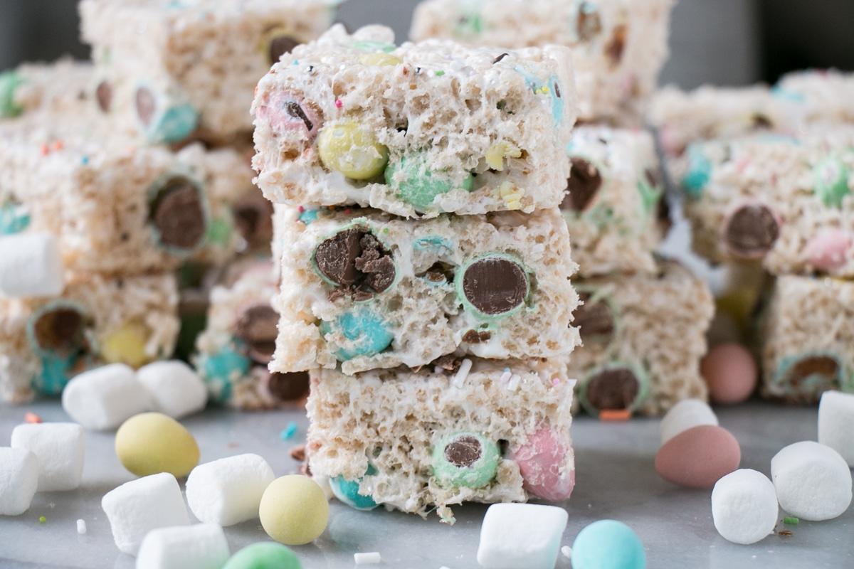 Mini Egg Rice Krispie Squares