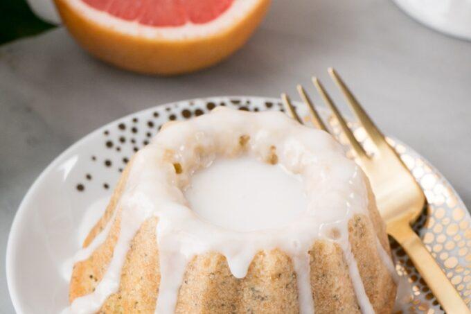 Mini Grapefruit Poppyseed Bundt Cakes