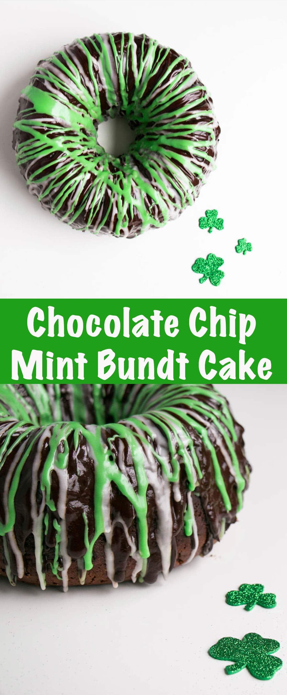 Chocolate Chip Mint Bundt Cake