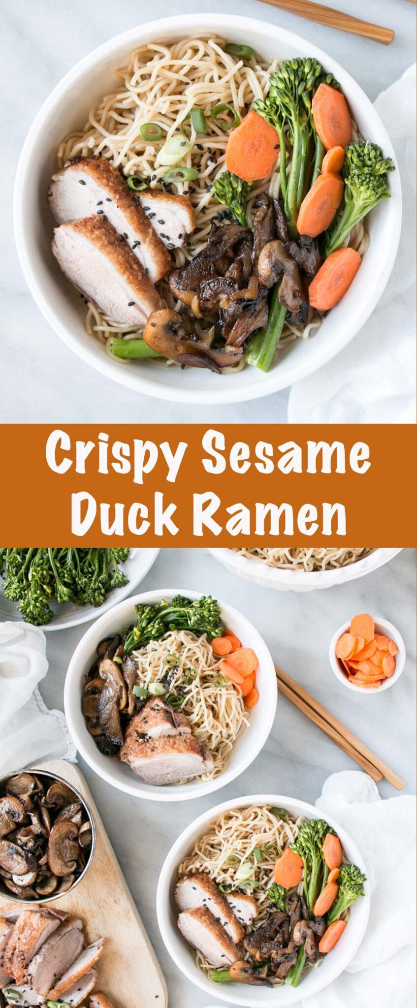Crispy Sesame Duck Ramen PIN