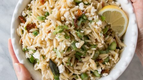 Orzo Pasta Salad with Asparagus