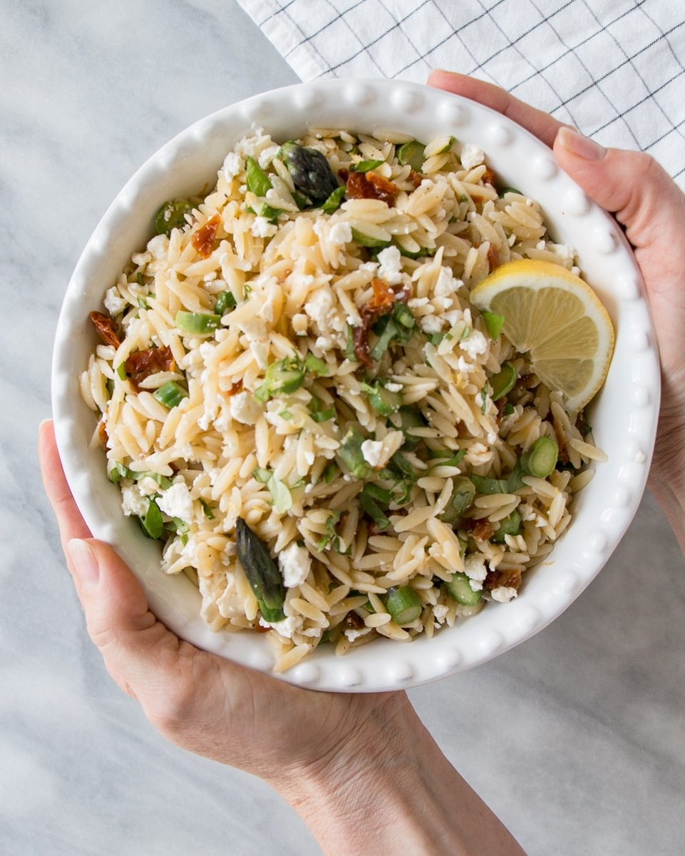 Asparagus and Sundried Tomato Orzo Pasta Salad