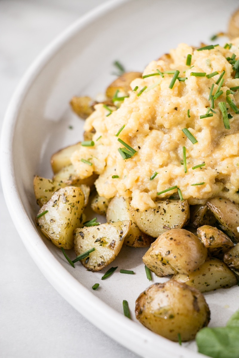 Soft Scrambled with Onion Chive Potatoes