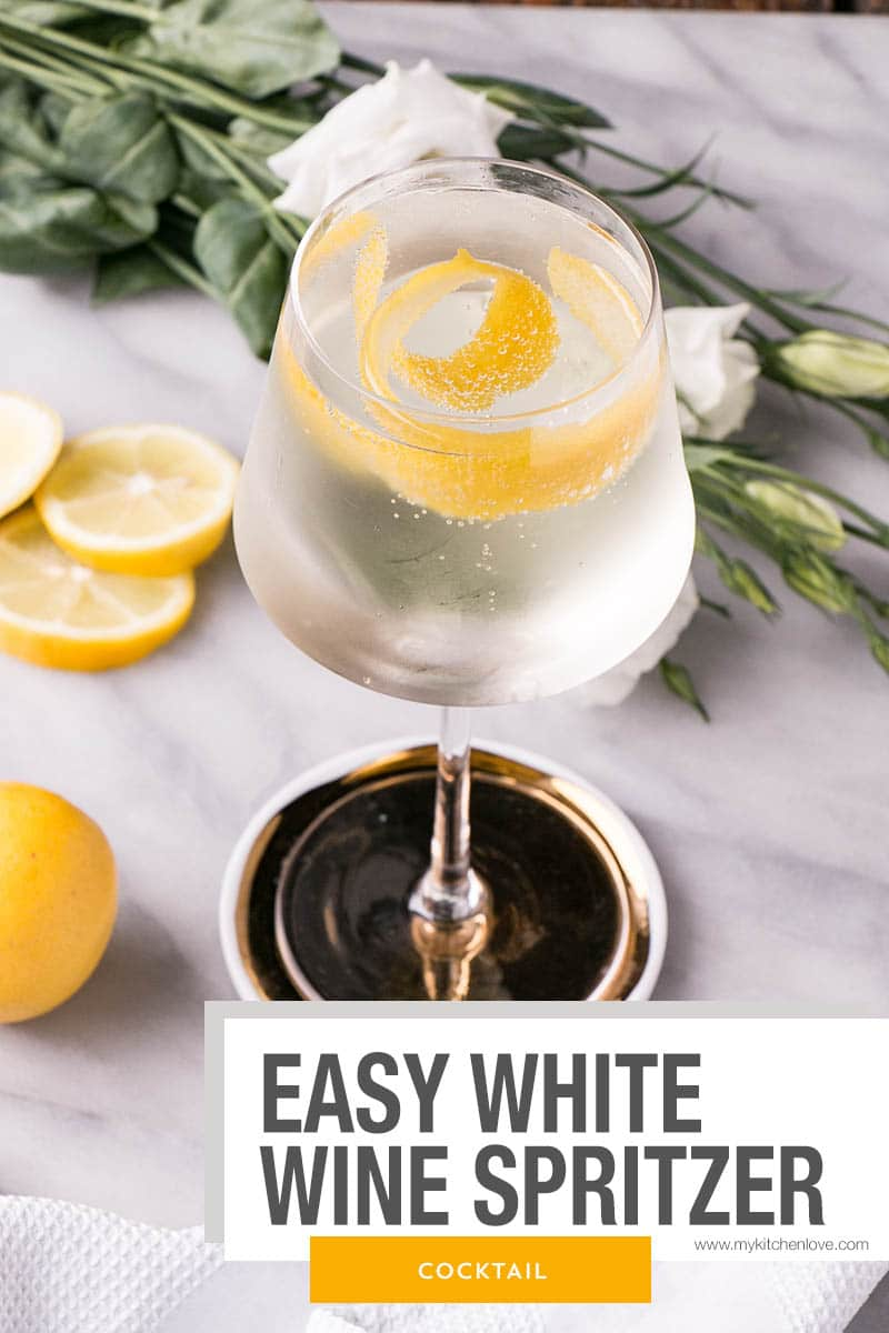 Easy White Wine Spritzer short pin