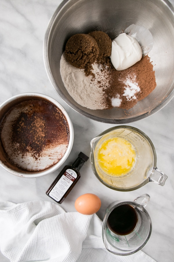 Ingredients for IP Chocolate Cake