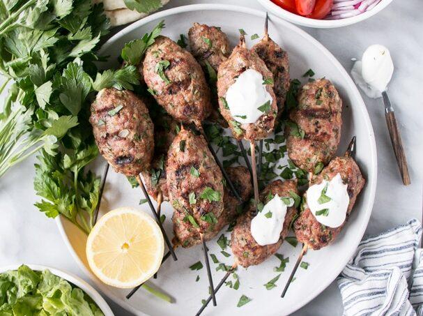 Turkey Koftas recipe with parsley and lemon.