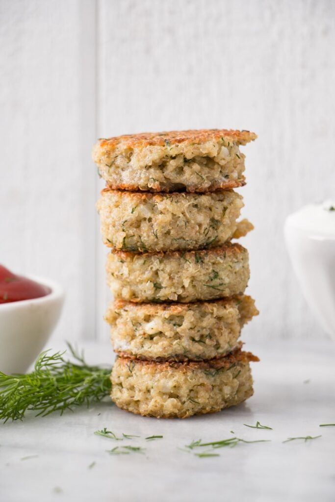 Stacked Quinoa Patties