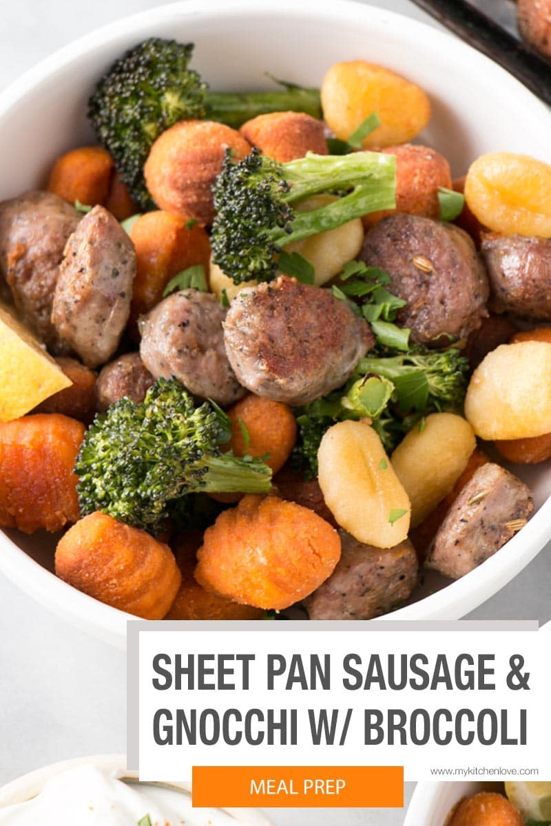 Sheet Pan Gnocchi with Sausage and Broccoli Short Pin