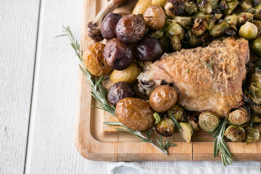 Sheet Pan Turkey and Potatoes