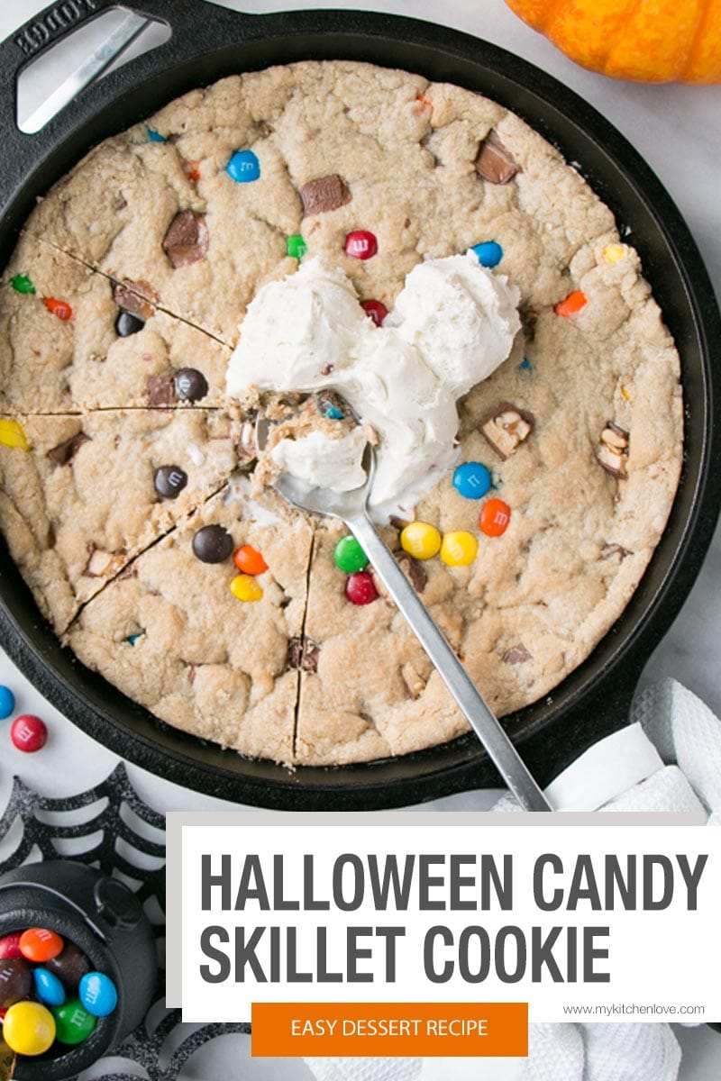 Leftover Halloween Candy Skillet Cookie Short Pin