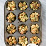 """Muffin Tin Christmas """"Stuffing"""" Potatoes"""