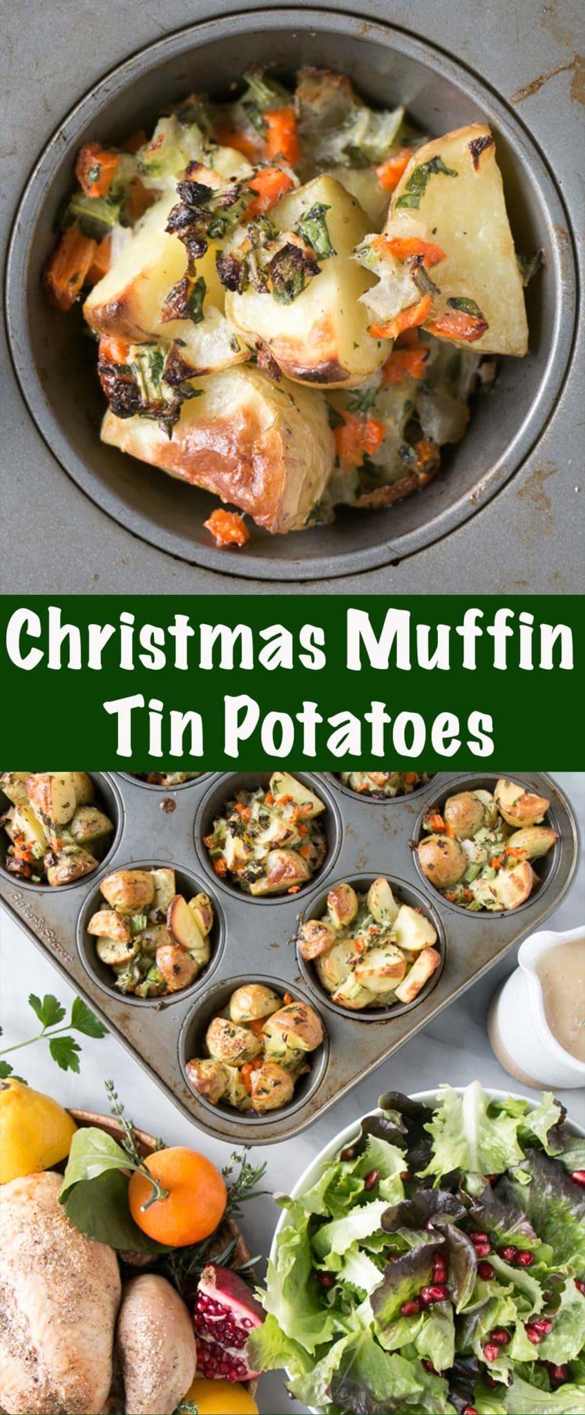 "Muffin Tin Christmas ""Stuffing"" Potatoes Long Pin"