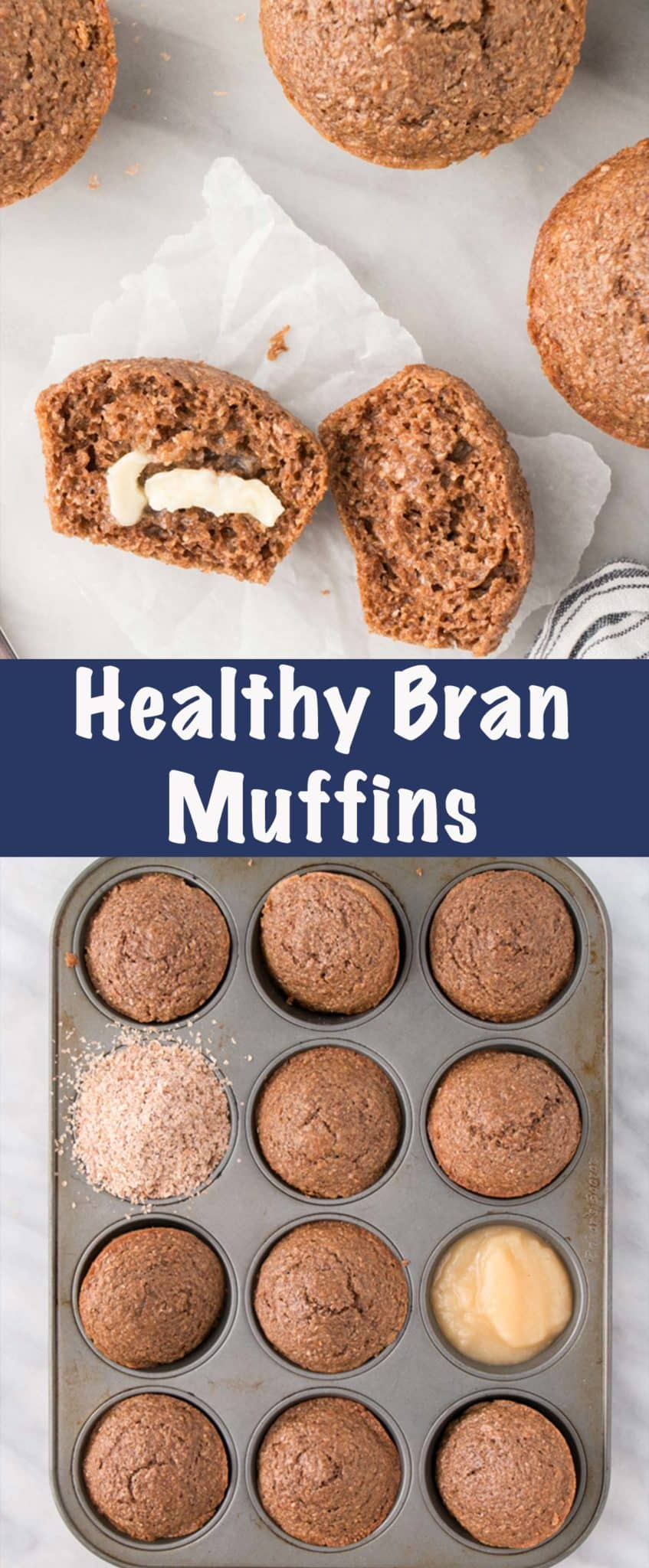 Healthy Bran Muffins Long Pin