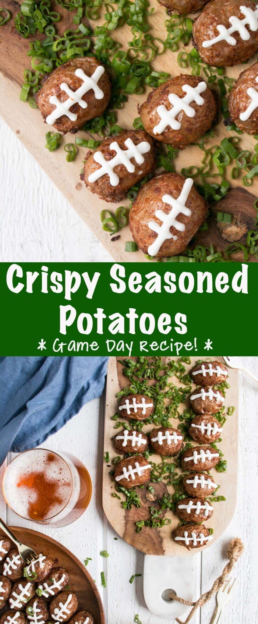 Crispy Seasoned Football Potatoes Long Pin