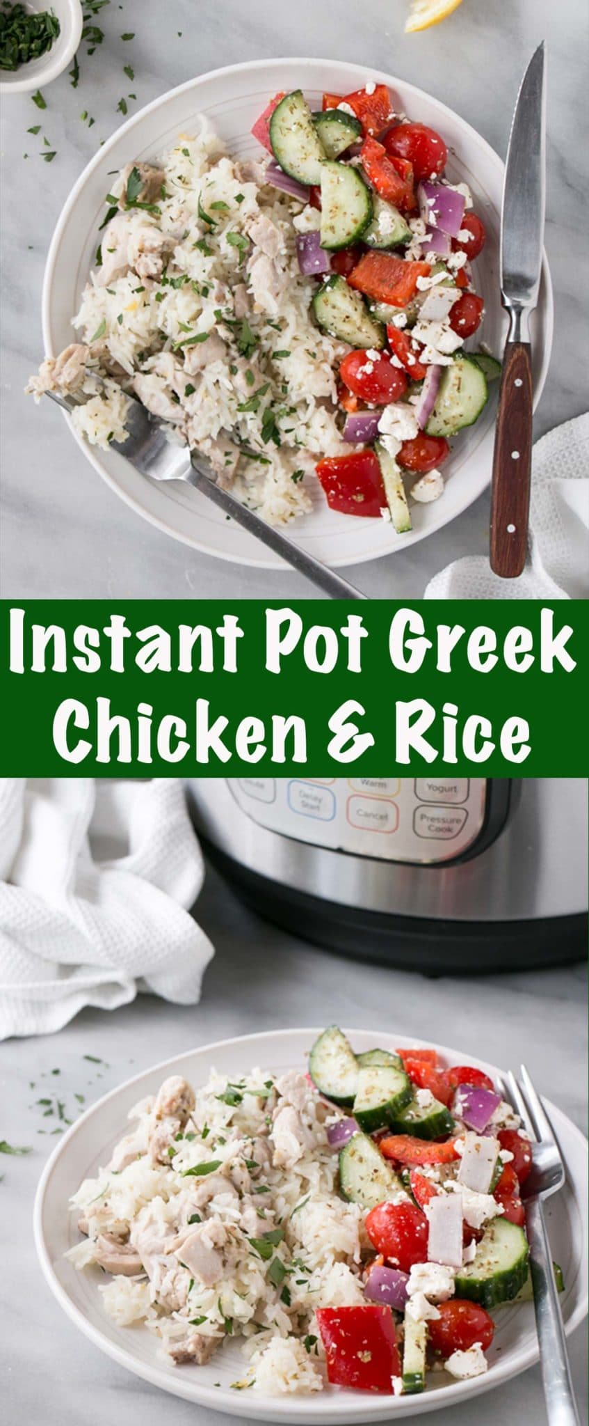Greek Instant Pot Chicken and Rice Tall Pin