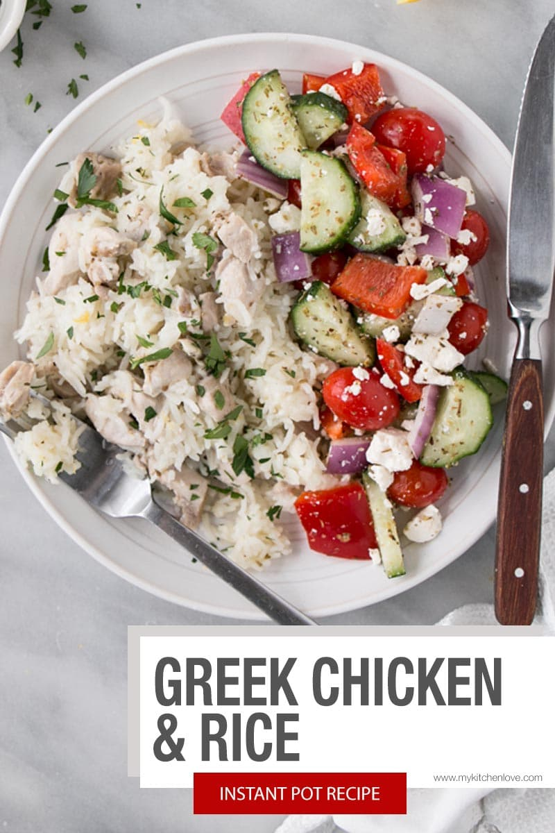 Greek Instant Pot Chicken and Rice Short Pin