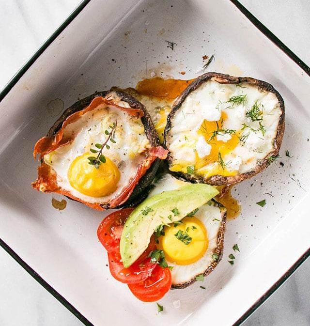 Portobello Mushroom Baked Eggs 3 Different Ways