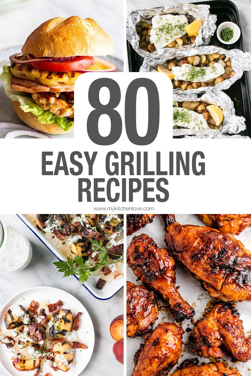 80 Easy Grilling Recipes Short Pin