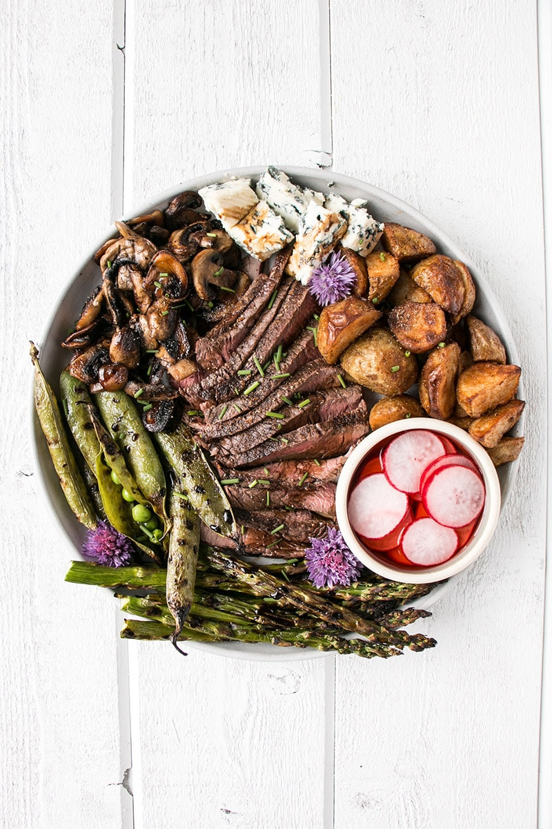 Balsamic Steak Salad Platter