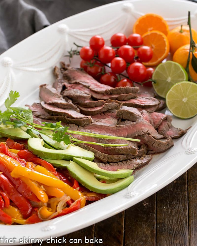 Flank Steak Fajita Platter