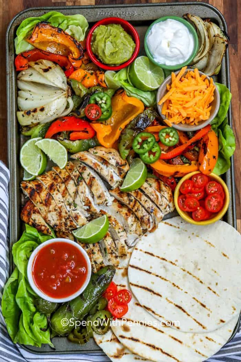 Grilled Chicken Fajita ingredients