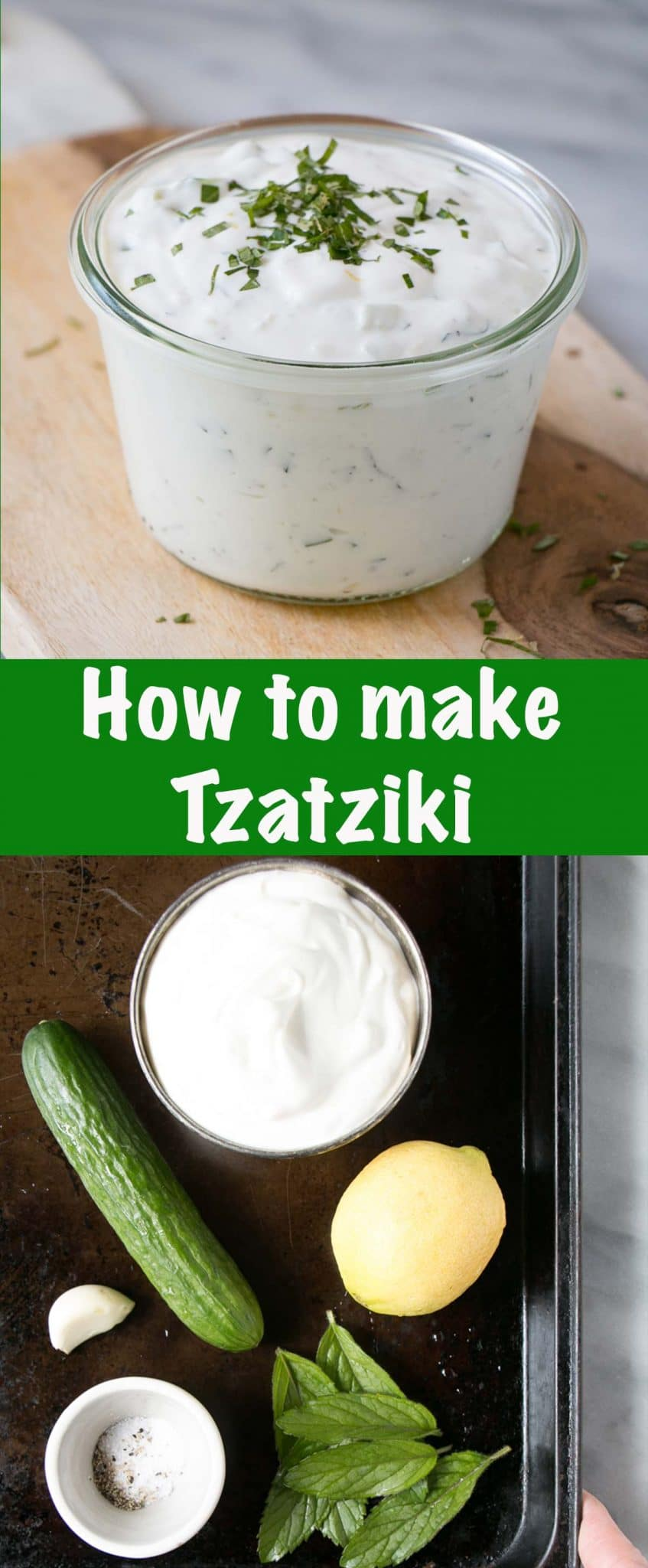 How to make Tzatziki Long Pin