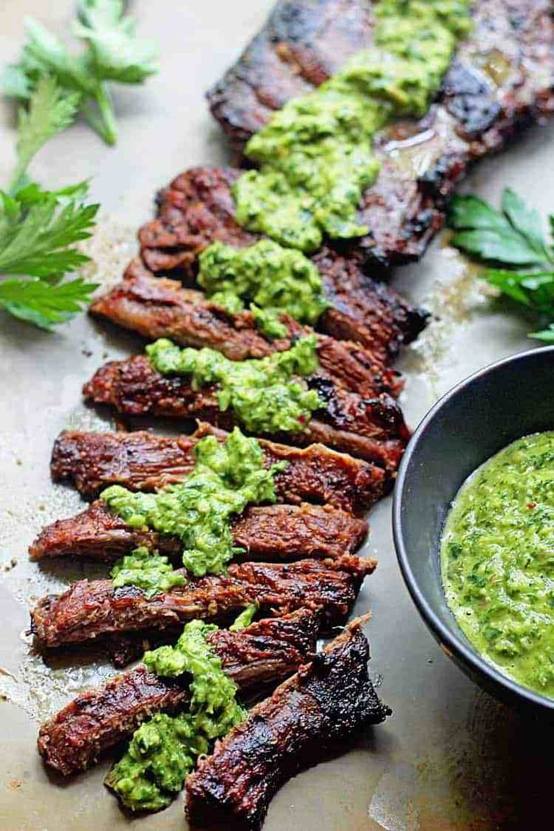 Marinated Skirt Steak with Chimichurri