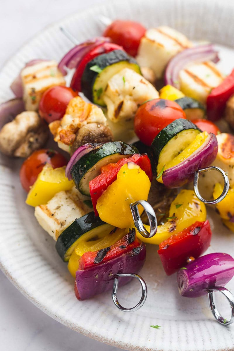 Veggie Kabobs with Halloumi