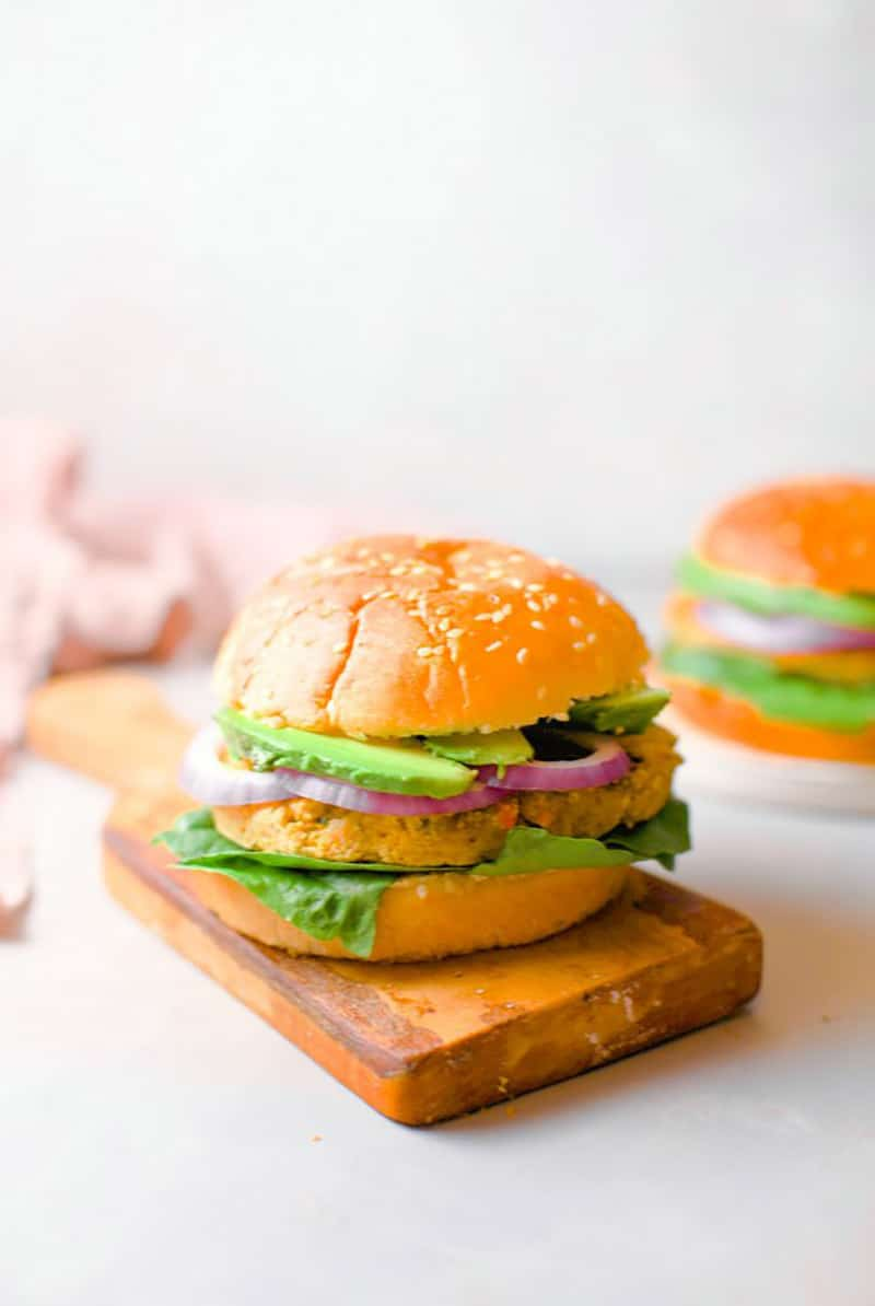 15 Minute Chickpea Burger